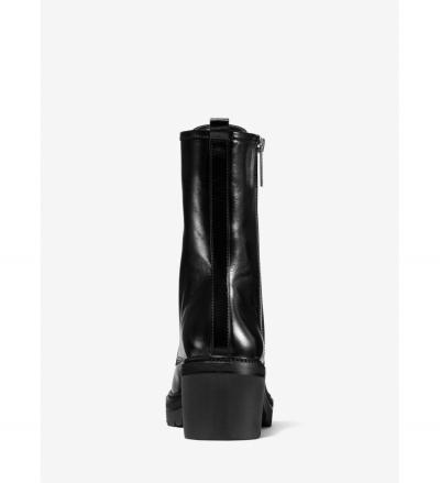 MICHAEL Michael Kors Anaka Crinkled Leather Combat Boot