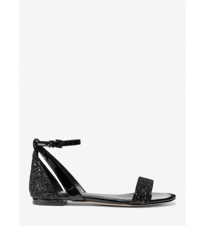 MICHAEL Michael Kors Cardi Glitter and Patent Leather Sandal