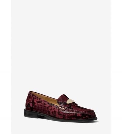 MICHAEL Michael Kors Finley Snake Embossed Leather Loafer
