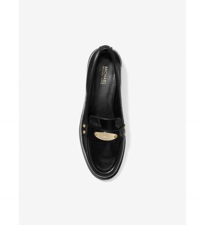 MICHAEL Michael Kors Finley Crinkled Leather Loafer