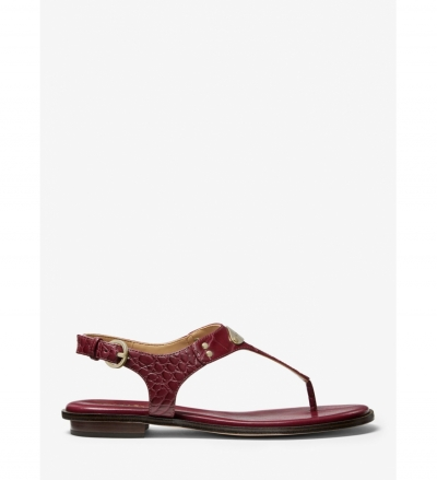 MICHAEL Michael Kors Logo Plate Crocodile Embossed Sandal