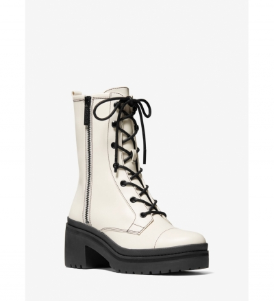 MICHAEL Michael Kors Anaka Leather Combat Boot