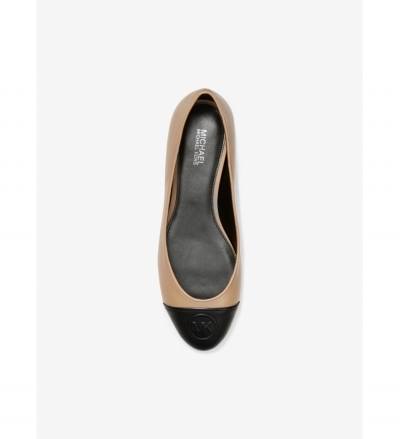 MICHAEL Michael Kors Dylyn Logo Leather Ballet Flat