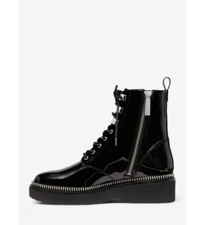MICHAEL Michael Kors Haskell Patent Leather Combat Boot