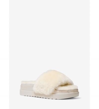 MICHAEL Michael Kors Tyra Shearling Slide Sandal