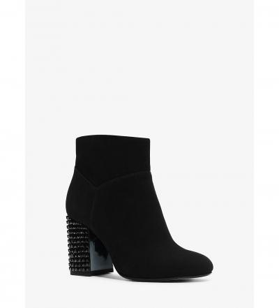 MICHAEL Michael Kors  Arabella Embellished Suede Ankle Boot