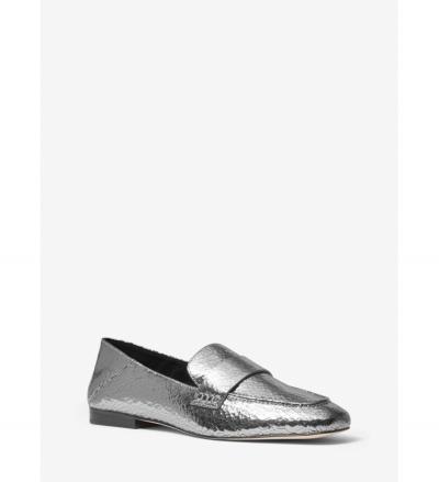 MICHAEL Michael Kors Emory Crackled Metallic Leather Loafer