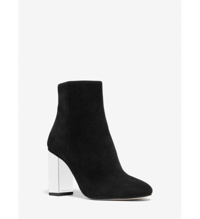 MICHAEL Michael Kors Petra Embellished Suede Ankle Boot