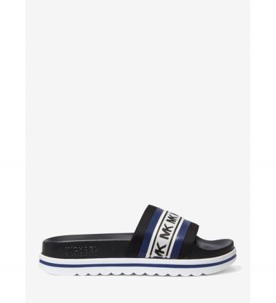MICHAEL Michael Kors Tyra Logo Scuba Slide Sandal