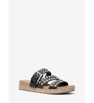 MICHAEL Michael Kors Ansel Studded Leather Slide Sandal