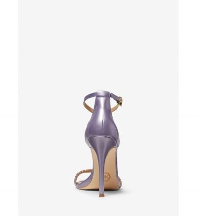 MICHAEL Michael Kors Antonia Pearlized Leather Sandal