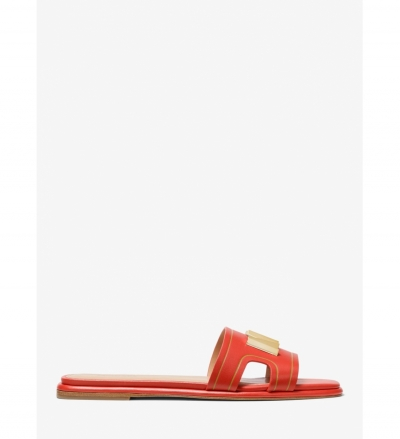 MICHAEL Michael Kors Kippy Embellished Leather Slide Sandal