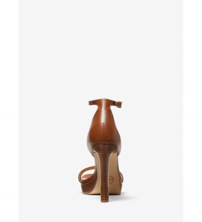 MICHAEL Michael Kors Margot Embellished Leather Platform Sandal