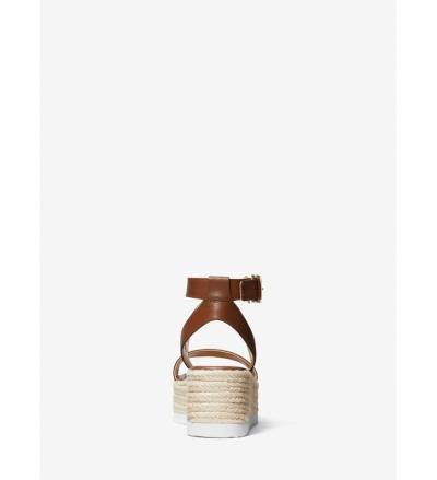 MICHAEL Michael Kors Lowry Leather Wedge Sandal