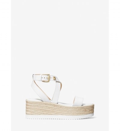 MICHAEL Michael Kors Lowry Leather Wedge Sandal