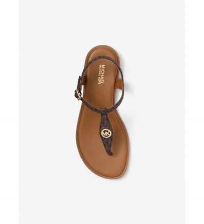 MICHAEL Michael Kors Mallory Logo T-Strap Sandal
