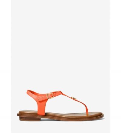 MICHAEL Michael Kors Mallory Leather T-Strap Sandal