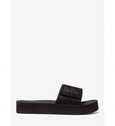MICHAEL Michael Kors Glitter Platform Slide Sandal