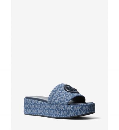 MICHAEL Michael Kors Sadler Logo Jacquard Wedge Sandal
