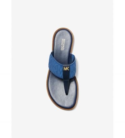 MICHAEL Michael Kors Verity Logo and Leather Sandal