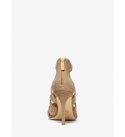 MICHAEL Michael Kors Annalee Embellished Suede Sandal