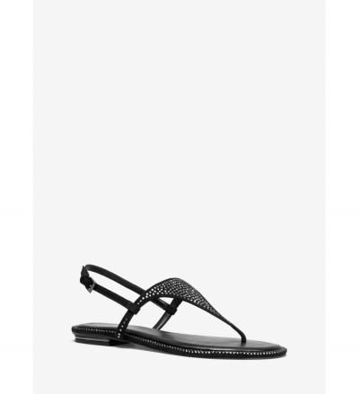 MICHAEL Michael Kors Enid Embellished Suede Sandal