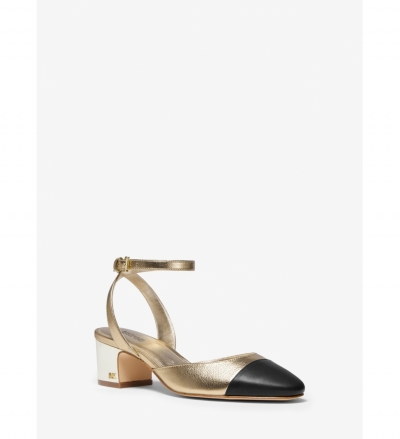 MICHAEL Michael Kors Brie Metallic Leather Pump