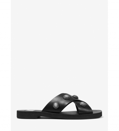 MICHAEL Michael Kors Glenda Studded Leather Slide Sandal