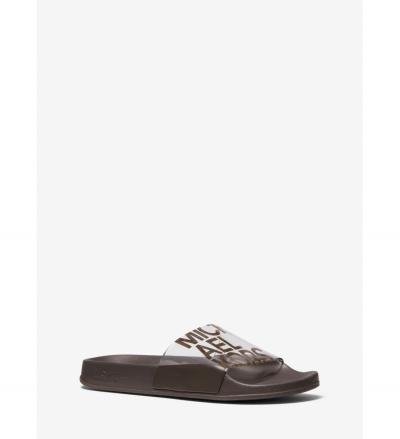 MICHAEL Michael Kors Gilmore Logo Print PVC Slide Sandal