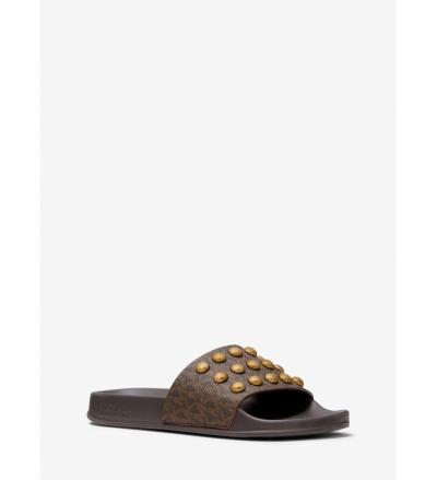 MICHAEL Michael Kors Gilmore Studded Logo Slide Sandal