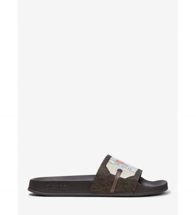 MICHAEL Michael Kors Gilmore Printed Logo Slide Sandal