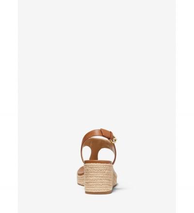 MICHAEL Michael Kors Laney Saffiano Leather Espadrille Wedge Sandal