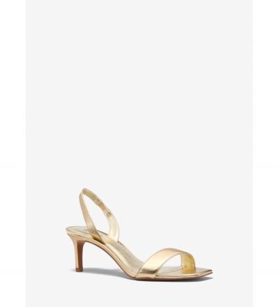 MICHAEL Michael Kors Mila Metallic Leather Sandal