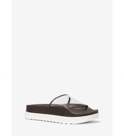 MICHAEL Michael Kors Tyra PVC and Logo Slide Sandal