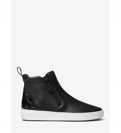 MICHAEL Michael Kors Clay Leather High-Top Sneaker