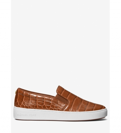 MICHAEL Michael Kors Keaton Crocodile Embossed Slip-On Sneaker