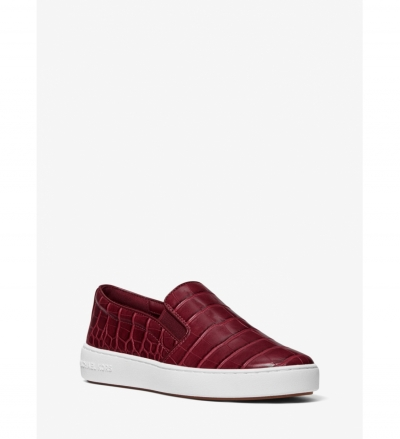 MICHAEL Michael Kors Keaton Crocodile Embossed Slip-On Sneaker