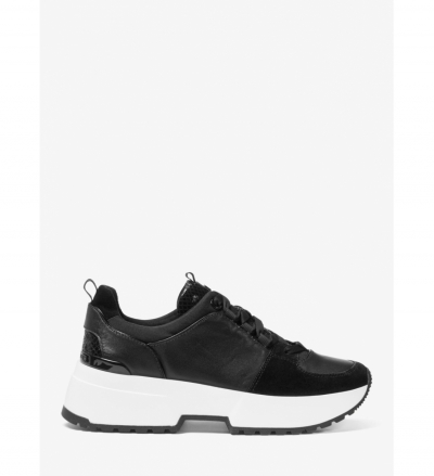MICHAEL Michael Kors Cosmo Leather Mixed-Media Trainer