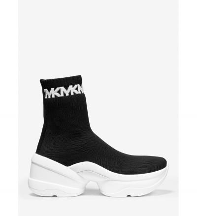 MICHAEL Michael Kors Olympia Stretch Knit Logo-Trim Sock Sneaker