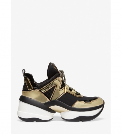 MICHAEL Michael Kors Olympia Scuba and Metallic Trainer