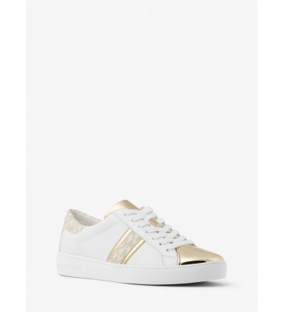 MICHAEL Michael Kors Frankie Leather and Logo Sneaker