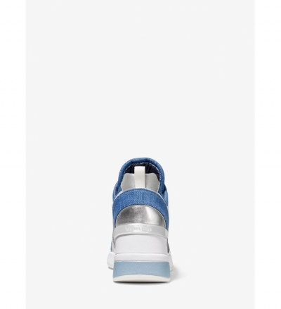 MICHAEL Michael Kors Georgie Denim And Leather Trainer