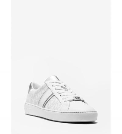 MICHAEL Michael Kors Irving Logo and Metallic Leather Stripe Sneaker