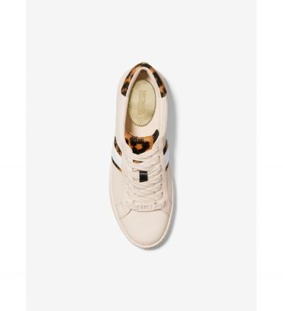 MICHAEL Michael Kors Irving Calf Hair and Mesh Stripe Sneaker