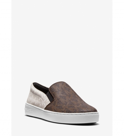 MICHAEL Michael Kors Keaton Two-Tone Logo Slip-On Sneaker
