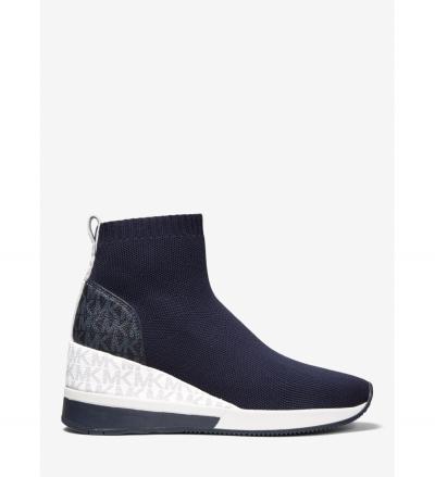MICHAEL Michael Kors Skyler Stretch Knit and Two-Tone Logo Sock Sneaker