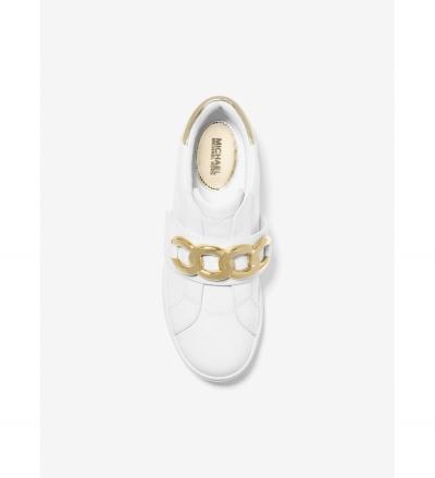 MICHAEL Michael Kors Kenna Chain Link Leather Sneaker