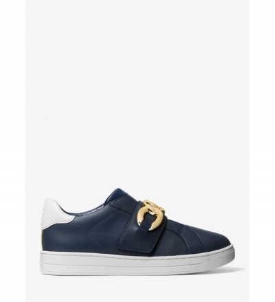 MICHAEL Michael Kors Kenna Chain Link Two-Tone Leather Sneaker