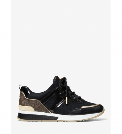 MICHAEL Michael Kors Pippin Logo and Leather Trainer