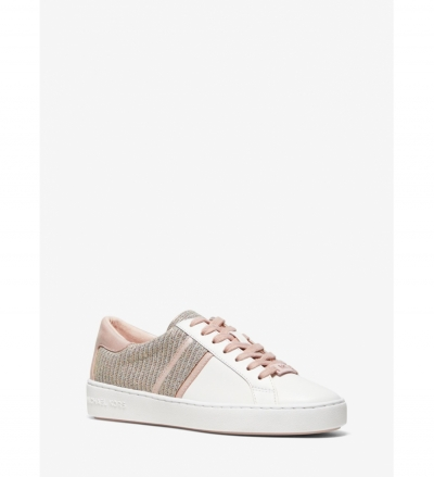 MICHAEL Michael Kors Keaton Chain-Mesh and Leather Sneaker